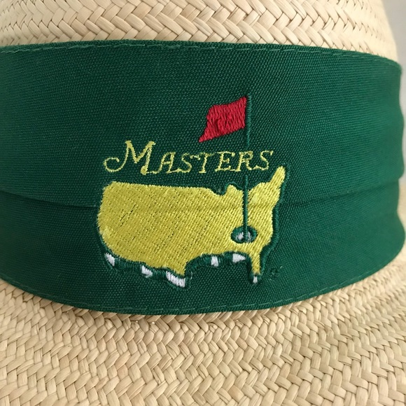 f6634e514dc93 Vintage Masters Tournament straw golf hat. M 5b9061c0129955ba932cc20a.  Other Accessories ...